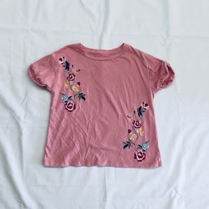 Little Girls Embroidered Tee